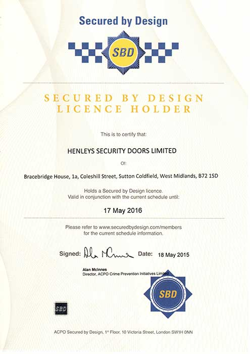 Secured by Design licence