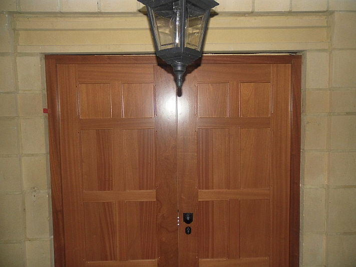 Sapele Hardwood Double Security Door Henleys Security Doors