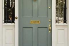 wooden front security door reinforced