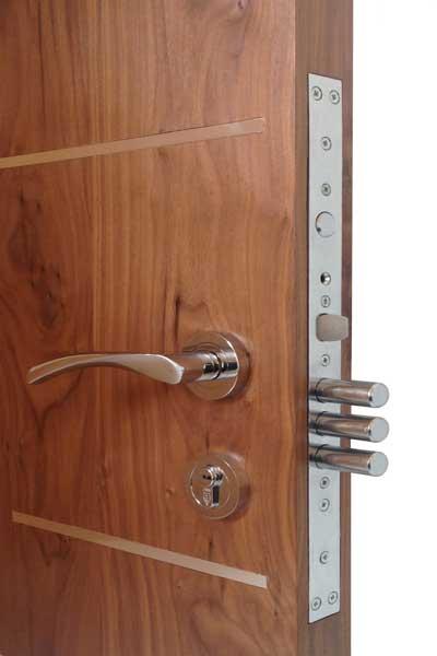 Chrome door hardware multi locking