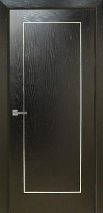 stainless chrome aluminium door inlay