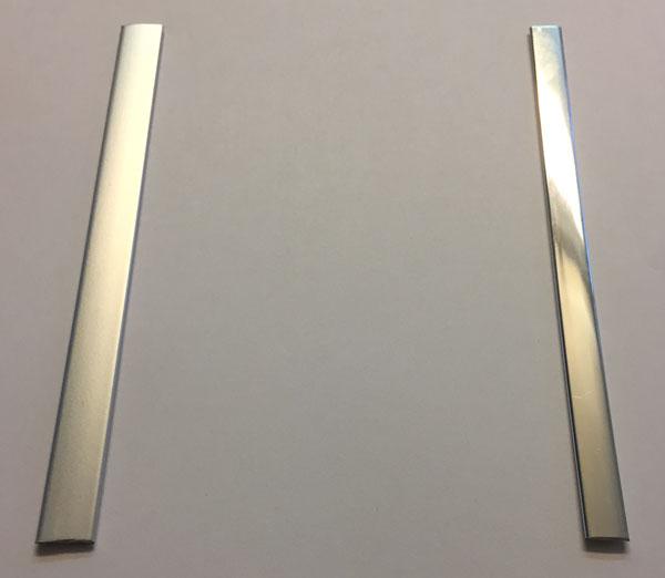 chrome brushed steel inlay wood door