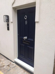high-security-front-entrance-door-central-london-sprayed-finish