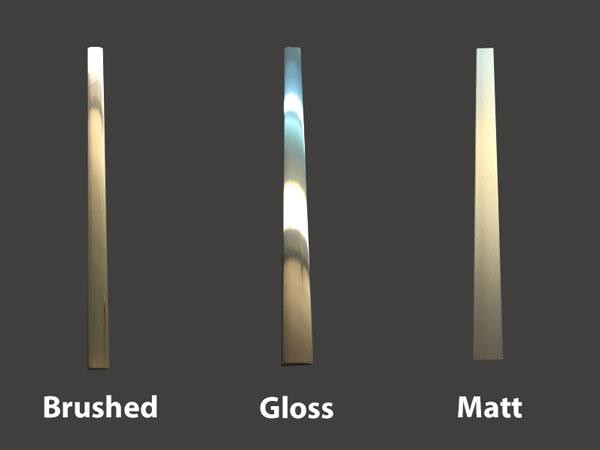door trim chrome matt stainless inlays