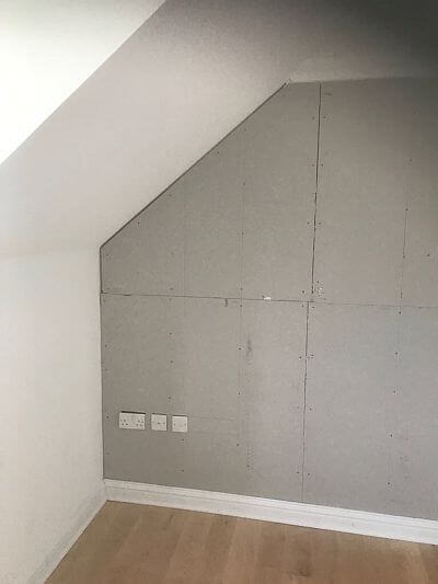 safe room walling plasterboard