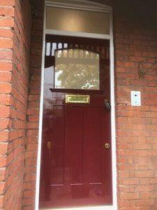 saxon security door front