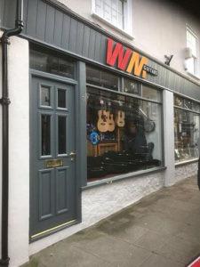 shop front security door grey