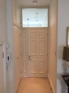 high security 6 panel apartment door white