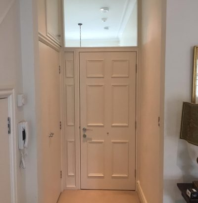 high security 6 panel apartment door white
