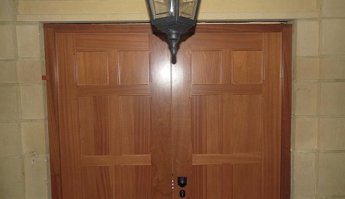 Sapele hardwood double security door & Sapele hardwood double security door - Henleys Security Doors
